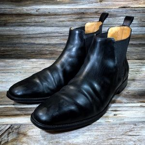 Cole Haan Lionel Dress Boot Leather Black Men's 10